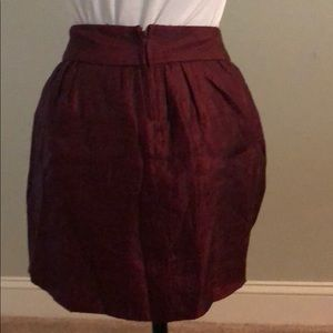Burgundy mini skirt